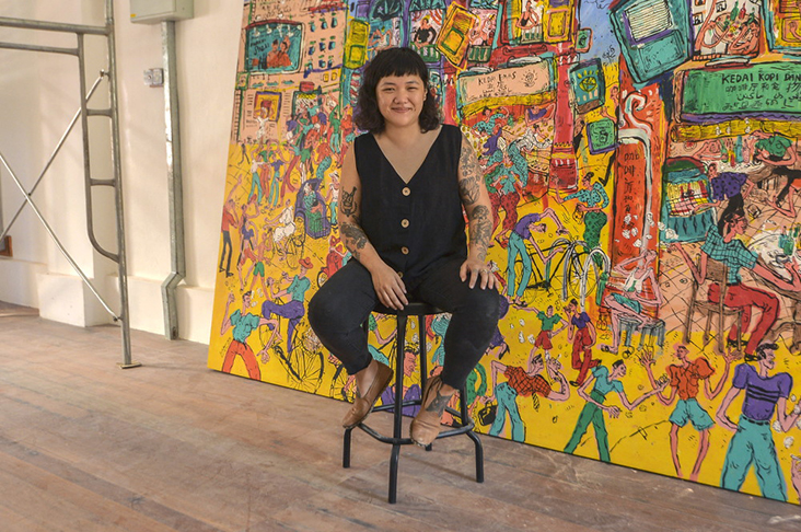Tun Perak Co-Op's Beatrice Leong is thrilled that they will host Kide's first solo exhibition