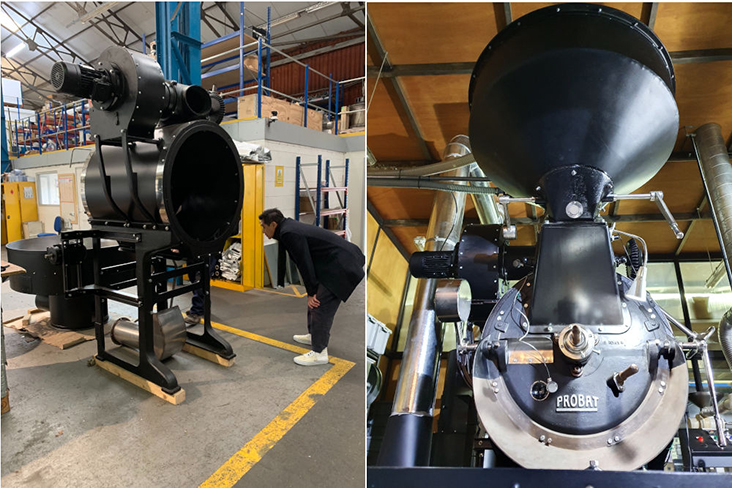 Foo finally found the roaster of his dreams in Italy and had it rebuilt in the UK