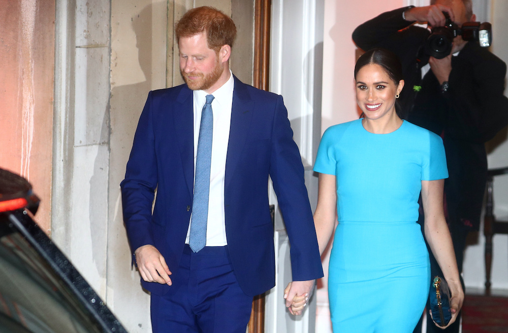 File photo of Britain's Prince Harry and his wife, Meghan, Duchess of Sussex, after attending the Endeavour Fund Awards in London, Britain March 5, 2020. ― Reuters pic