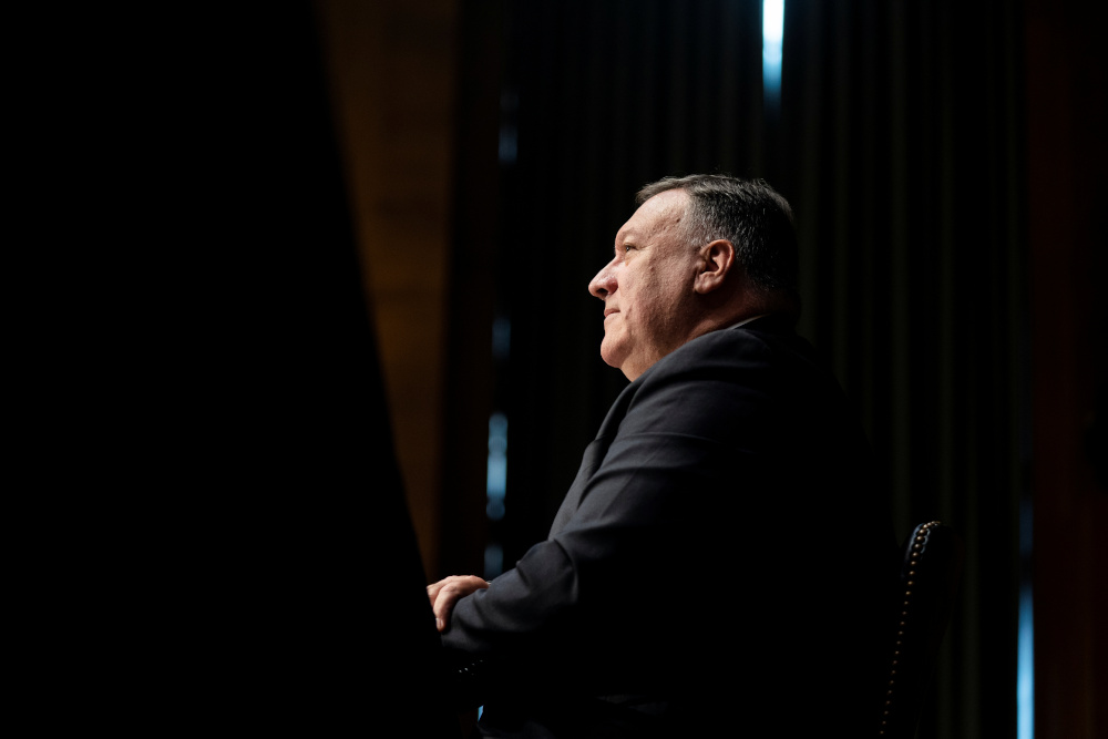 US Secretary of State Mike Pompeo testifies before Senate Foreign Relations Committee in Washington, DC, US July 30, 2020. — Reuters pic