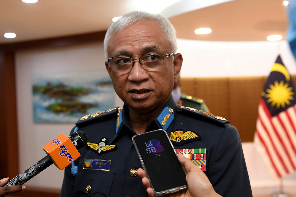 Chief of Defence Forces Gen Tan Sri Affendi Buang speaks to the media at Wisma Pertahanan in Kuala Lumpur, July 1, 2020. — Bernama pic