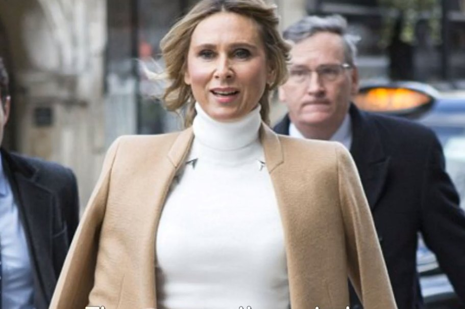 Screengrab of Tatiana Akhmedova from the YouTube video: Wife awarded £453m in huge divorce arrives at High Court.
