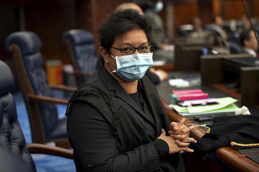 Datuk Seri Azalina Othman Said is pictured at Parliament in Kuala Lumpur July 13, 2020. — Bernama pic