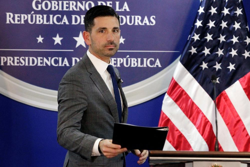File picture shows US Department of Homeland Security (DHS) acting Secretary Chad Wolf arriving for a joint message with Honduras' President Juan Orlando Hernandez (not pictured), at the Presidential House in Tegucigalpa, Honduras January 9, 2020. — Reuters pic