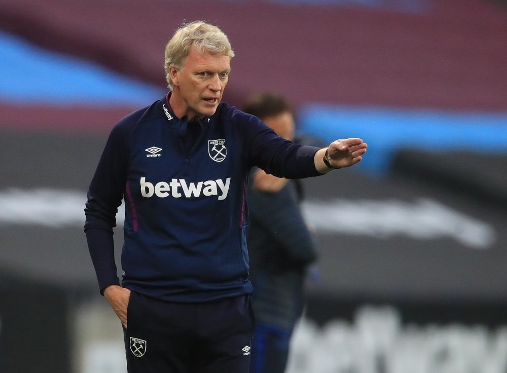 West Ham United manager David Moyes reacts during the match against Cheslea July 2, 2020. ― Reuters pic