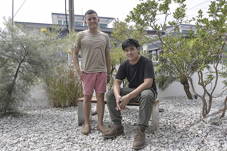 The look of the bakery is courtesy of Sputnik Forests Labs led by landscape artist Wei Ming (seated) and interior designer Chee Leong (standing).