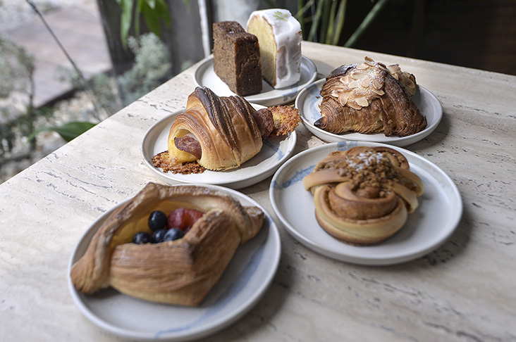 An assortment of Dou Dou Bake's pastries, fresh from the oven.