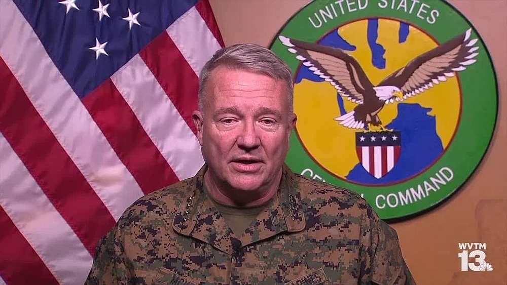 YouTube video screengrab of US Marine General Frank McKenzie.