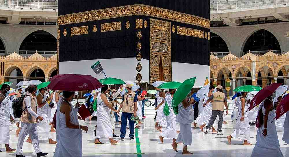 Muslim pilgrims circle the Kaaba at the Grand mosque during the annual Haj pilgrimage amid the Covid-19 pandemic, in the holy city of Mecca, Saudi Arabia July 29, 2020. — Reuters pic