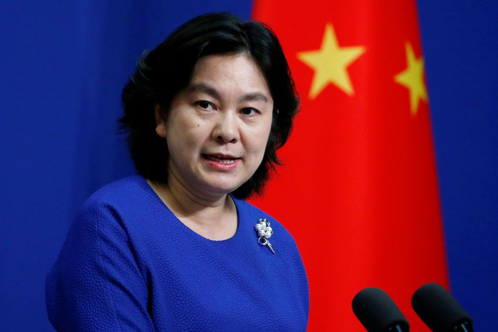 Chinese Foreign Ministry spokeswoman Hua Chunying speaks at a news conference in Beijing, China July 17, 2020. — Reuters pic