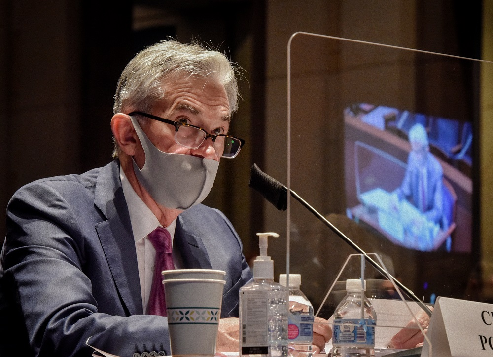 Federal Reserve Chairman Jerome Powell testifies before the House of Representatives Financial Services Committee during a hearing on oversight of the Treasury Department and Federal Reserve response to the outbreak of Covid-19 in Washington June 30, 2020. ― Reuters pic