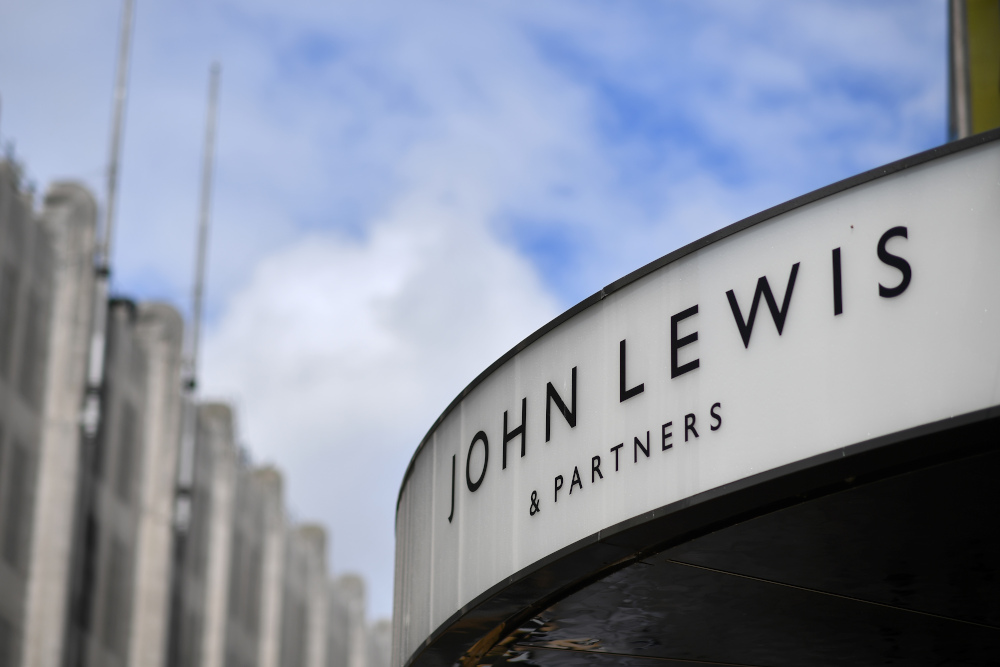 In this file photo taken July 2, 2020 shows the entrance to a John Lewis store in Oxford Street, central London. — AFP pic