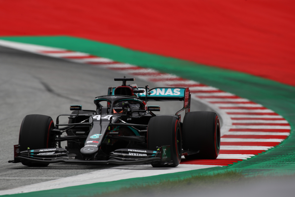 Mercedes' British driver Lewis Hamilton steers his car during the first practice session at the Austrian Formula One Grand Prix July 3, 2020 in Spielberg, Austria. — AFP pic