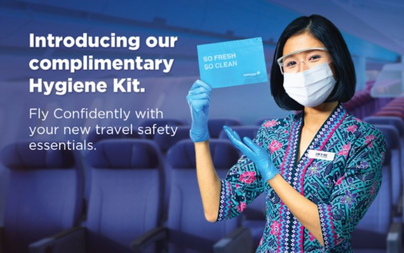According to the national flag carrier, the kits are the latest addition to its Fly Confidently series of health and safety measures. — SoyaCincau pic
