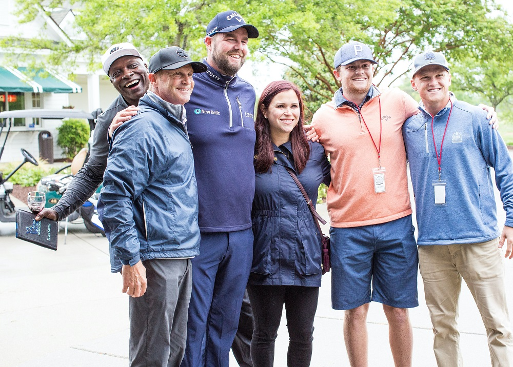 Marc Leishman and Audrey at a Begin Again charity golf event in 2019. ― Picture courtesy of Begin Again Foundation