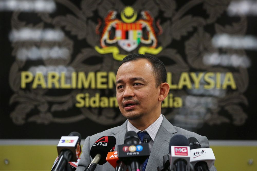 Simpang Renggam MP Maszlee Malik speaks during a press conference at Parliament in Kuala Lumpur July 23, 2020. — Picture by Yusof Mat Isa