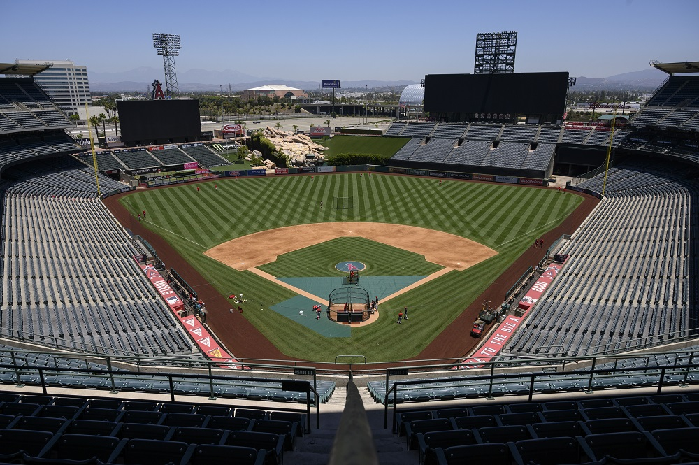 Major League Baseball said in a statement the games had been postponed in order to allow for additional testing. ―  Angels Baseball/Pool Photo via USA TODAY Network/Reuters pic
