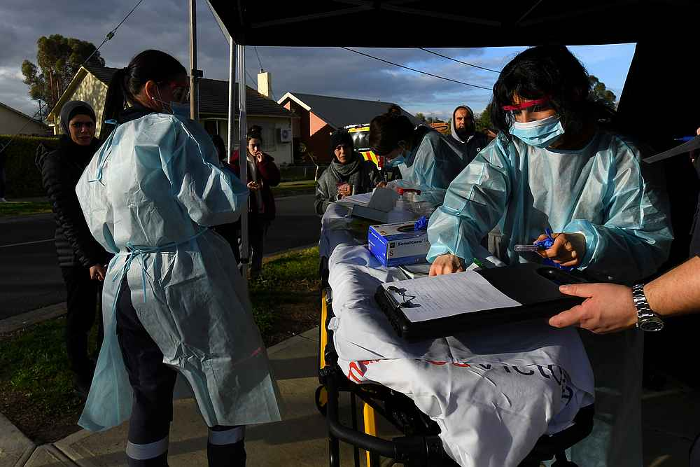 The Queensland case comes as a cluster of the highly infectious Delta variant has grown by two cases to nine in New South Wales. — AAP Image via Reuters