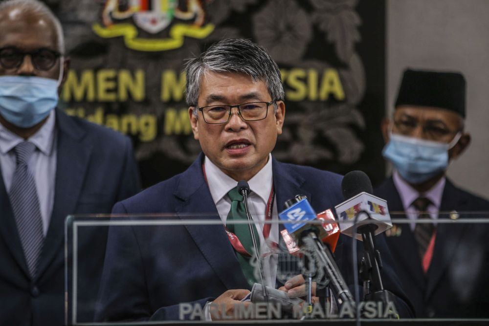 Selayang MP William Leong said he and a group of concerned lawyers and citizens were exploring avenues to legally dispute the Proclamation of Emergency issued today. ― Picture by Hari Anggara