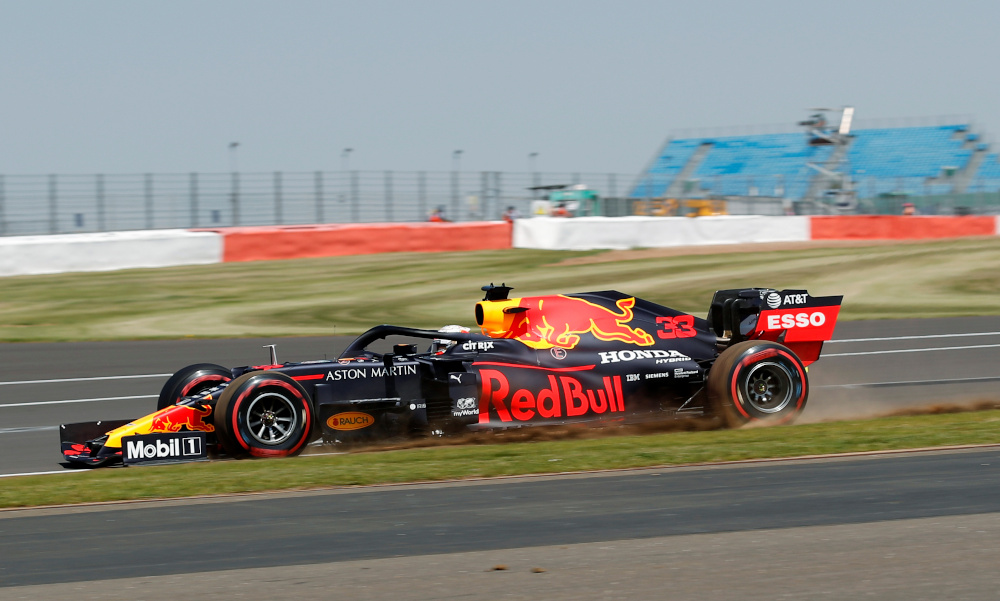 Red Bull's Max Verstappen in action during the British Grand Prix Formula One practice run at Silverstone Circuit, Silverstone July 31, 2020. — Reuters pic