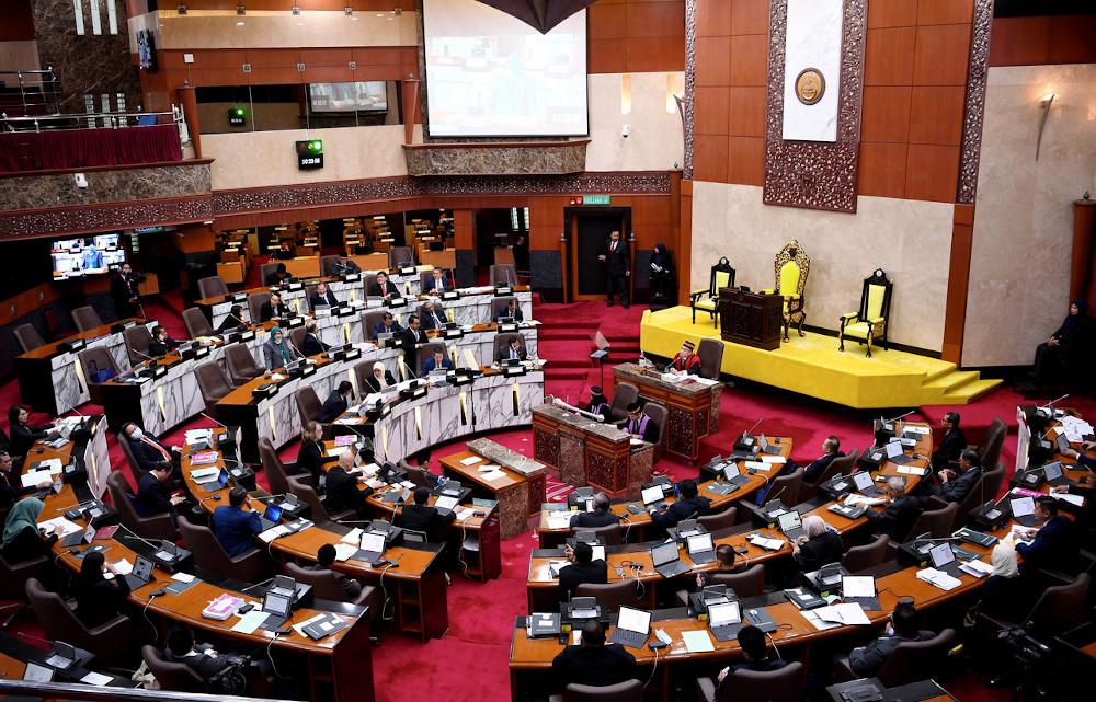 The Selangor State Legislative Assembly sitting in Shah Alam July 13, 2020. — Bernama pic