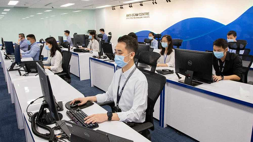 Singapore's Anti-Scam Centre is the nerve centre for investigating scam-related crimes. — Singapore Police Force pic via TODAY