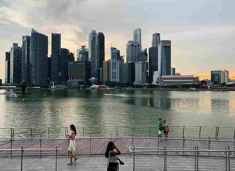 For the fourth quarter of 2020, Singapore's economy contracted by 2.4 per cent on a year-on-year basis, an improvement from the 5.8 per cent contraction in the preceding quarter — Reuters pic