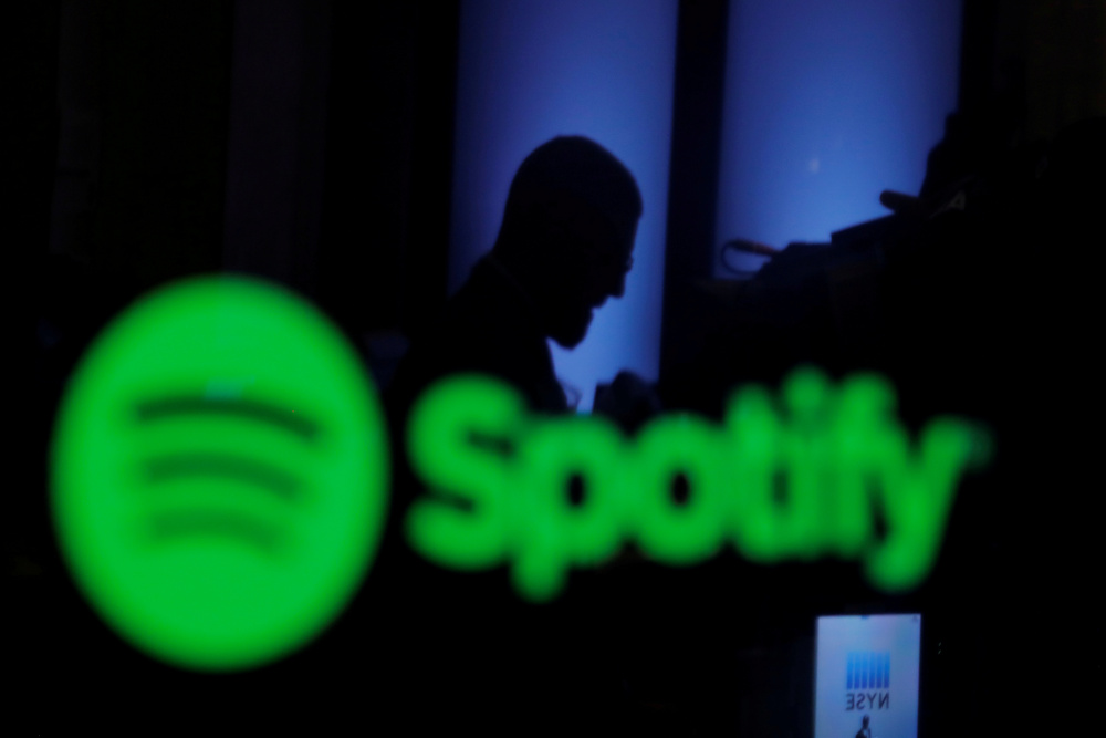 Spotify said the Apple One bundle announced yesterday disadvantages streaming music rivals. — Reuters pic