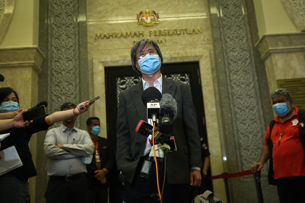Last year, Malaysiakini editor-in-chief Steven Gan faced contempt of court charges over comments published on their websites criticising the judiciary. ― Picture by Yusof Mat Isa