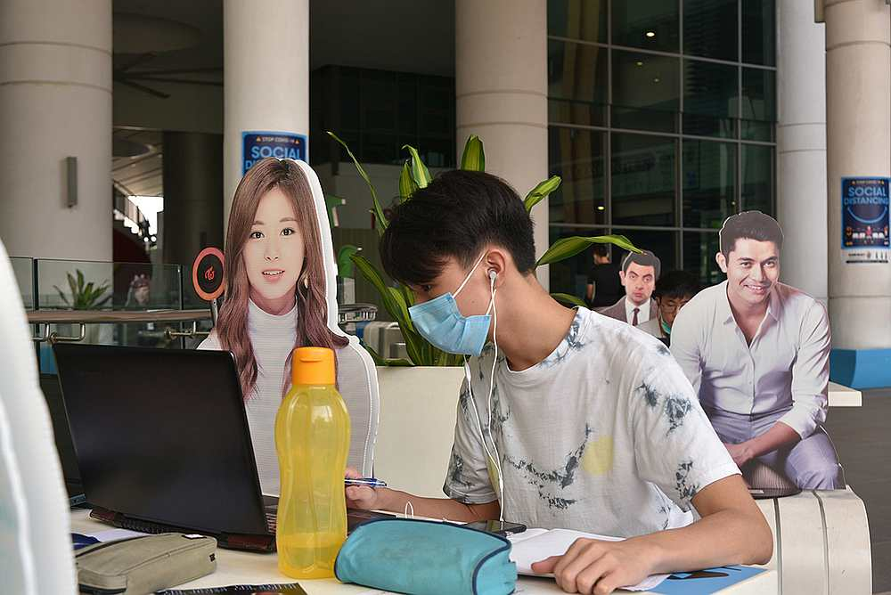 From K-pop stars to Hollywood heartthrobs, the celebrity cut-outs feature notable figures from various backgrounds. — Picture courtesy of Sunway University