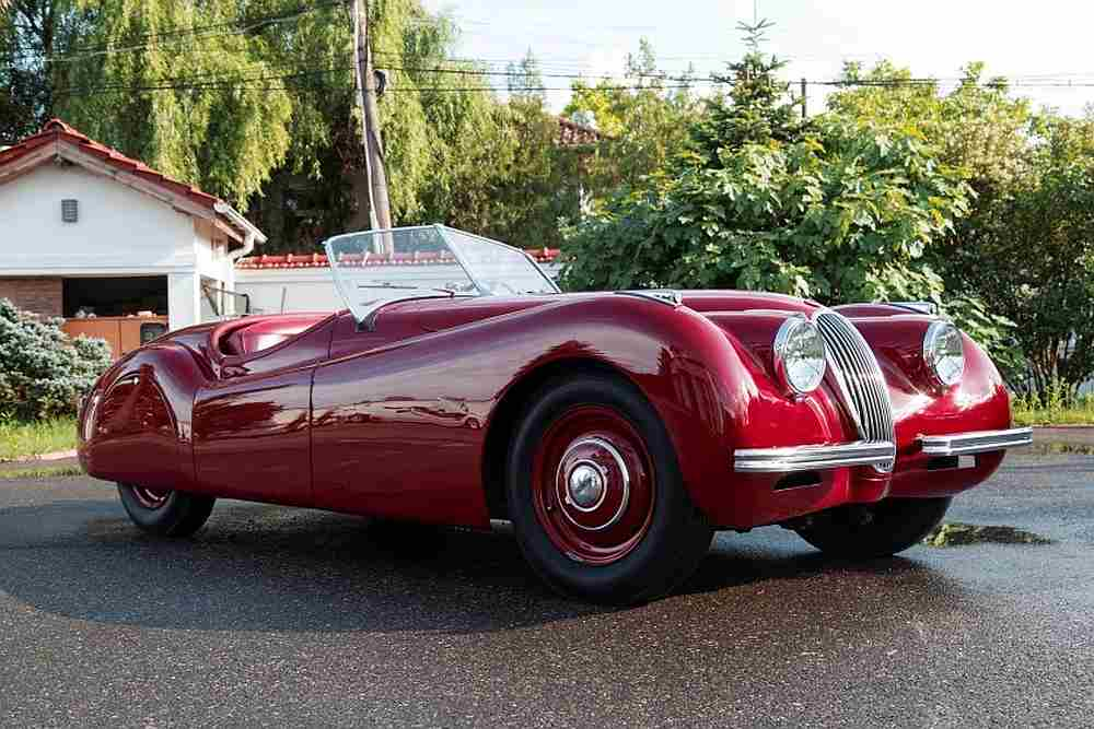 This 1949 aluminum Jaguar XK120 roadster will go under the hammer at the Monaco 2020 sale by Artcurial Motorcars. — Picture courtesy of Artcurial Motorcars via AFP