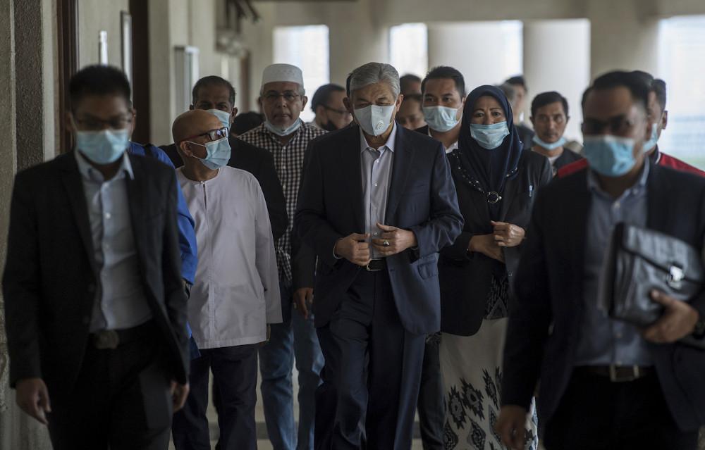 Datuk Seri Ahmad Zahid Hamidi at the Kuala Lumpur High Court July 3, 2020. — Bernama pic