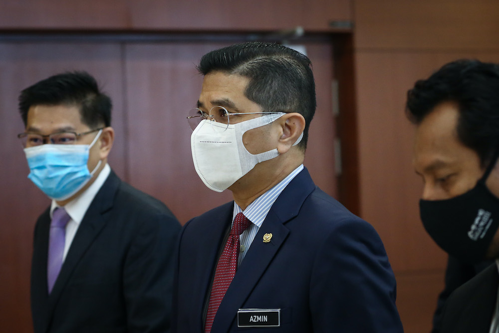 Senior Minister Datuk Seri Mohamed Azmin Ali is pictured at Parliament in Kuala Lumpur August 3, 2020. — Picture by Yusof Mat Isa