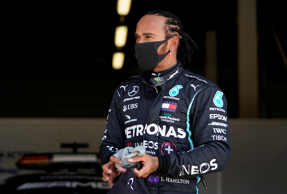 Mercedes' Lewis Hamilton after qualifying for the Formula One F1 British Grand Prix at the Silverstone Circuit,  Britain - August 1, 2020 — Reuters pic