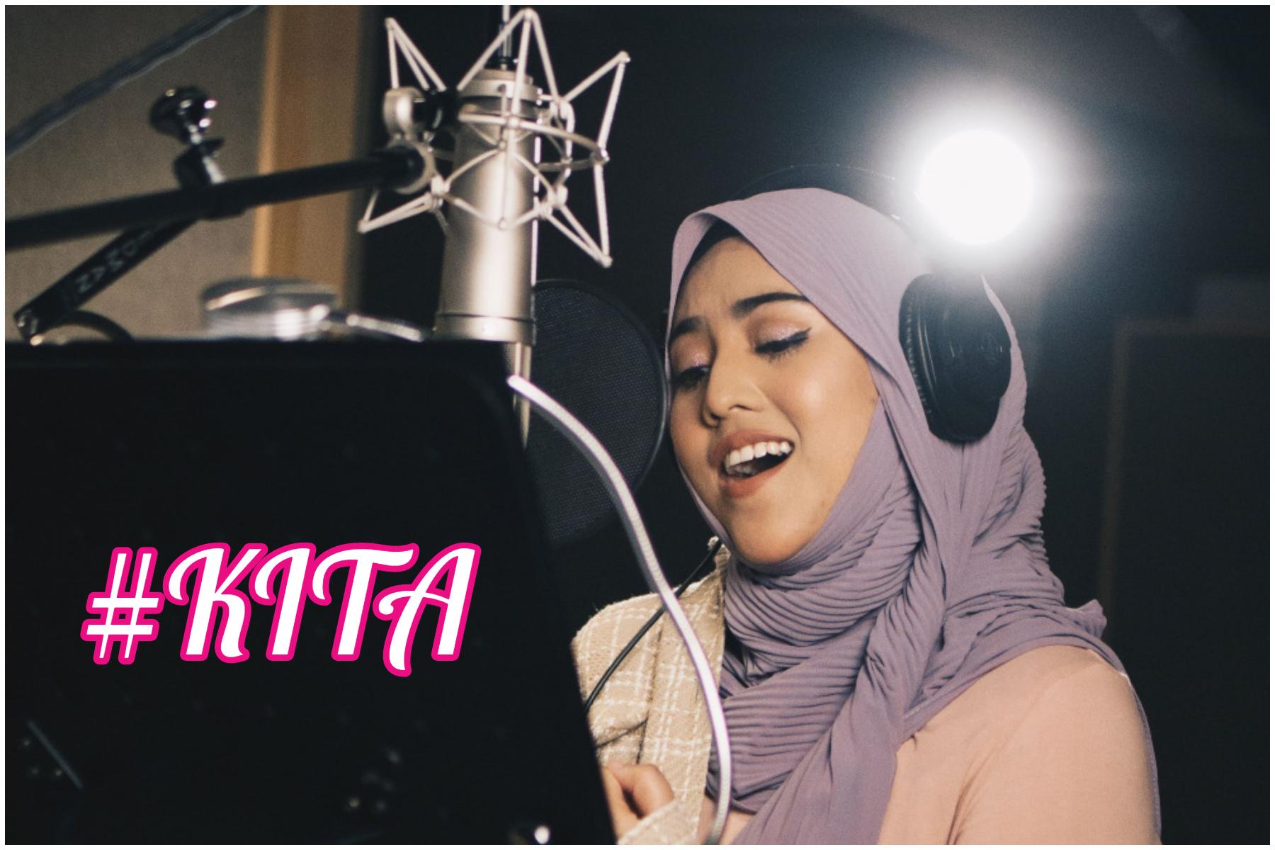 茜拉用感性的声音,以华巫双语唱出国庆微电影《我们KITA》主题曲。-GME Malaysia提供/精彩大马制图-