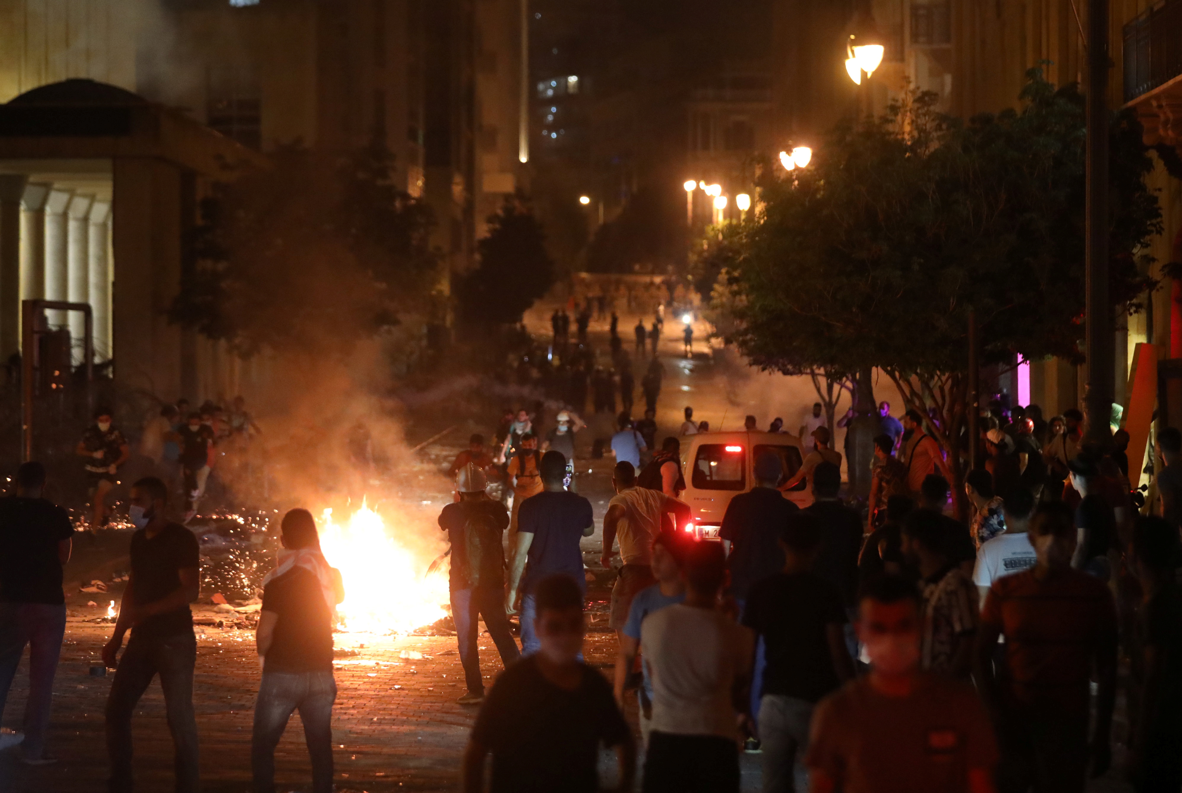 Protests have erupted since the deadly blast in Lebanon that has killed more than 172 people. — Reuters