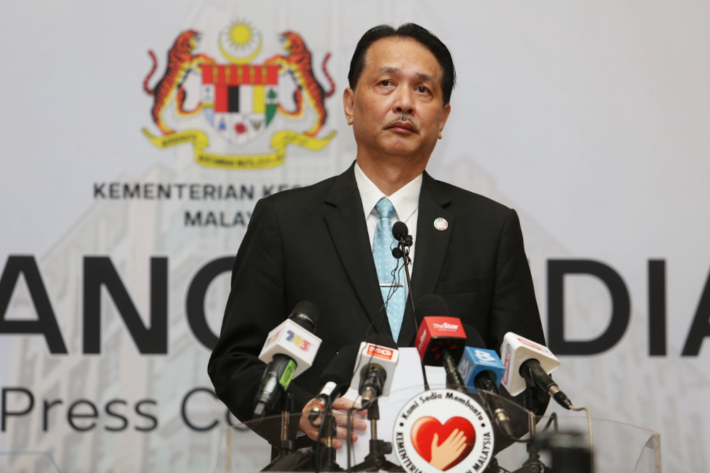 Health Director-General Datuk Dr Noor Hisham Abdullah said that the Form Five student has been tested twice for Covid-19 and the results came out negative. — Picture by Choo Choy May