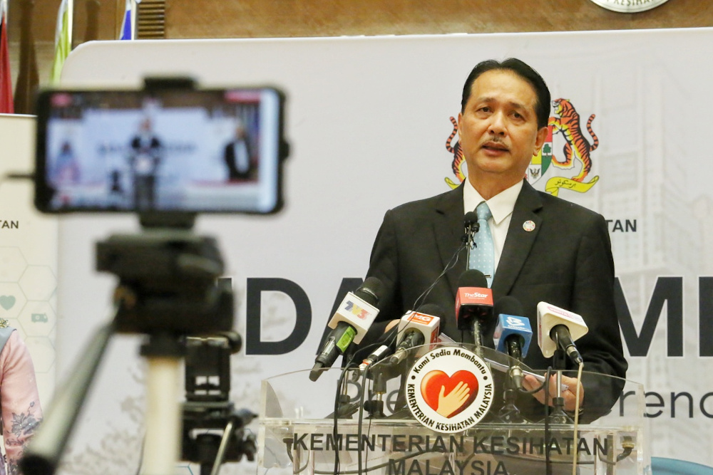 Health director-general Datuk Dr Noor Hisham Abdullah said the Kurau cluster in Perak has resulted in two positive cases detected. — Picture by Choo Choy May
