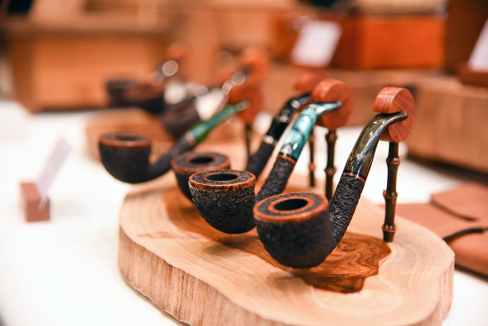 Each pipe was carefully designed and carved from briar wood by Johnsson Ooi. — Pictures by KE Ooi