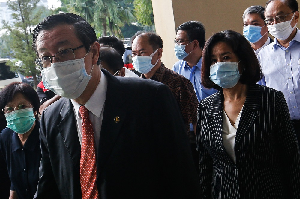 In August, Lim, 60, was charged with abusing his power to obtain RM372,009 for his wife Betty Chew Gek Cheng sometime between August 19 in 2013 and March 3 in 2016 at the Penang chief minister's office at Level 28 in Komtar. — Picture by Sayuti Zainudin