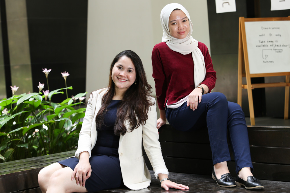 Kakak Kondom host Azryn Azhari Arshad (left) and her co-host Najwa A'liah Fairuz have teamed up to make sexual health education accessible to a young audience. — Pictures by Choo Choy May