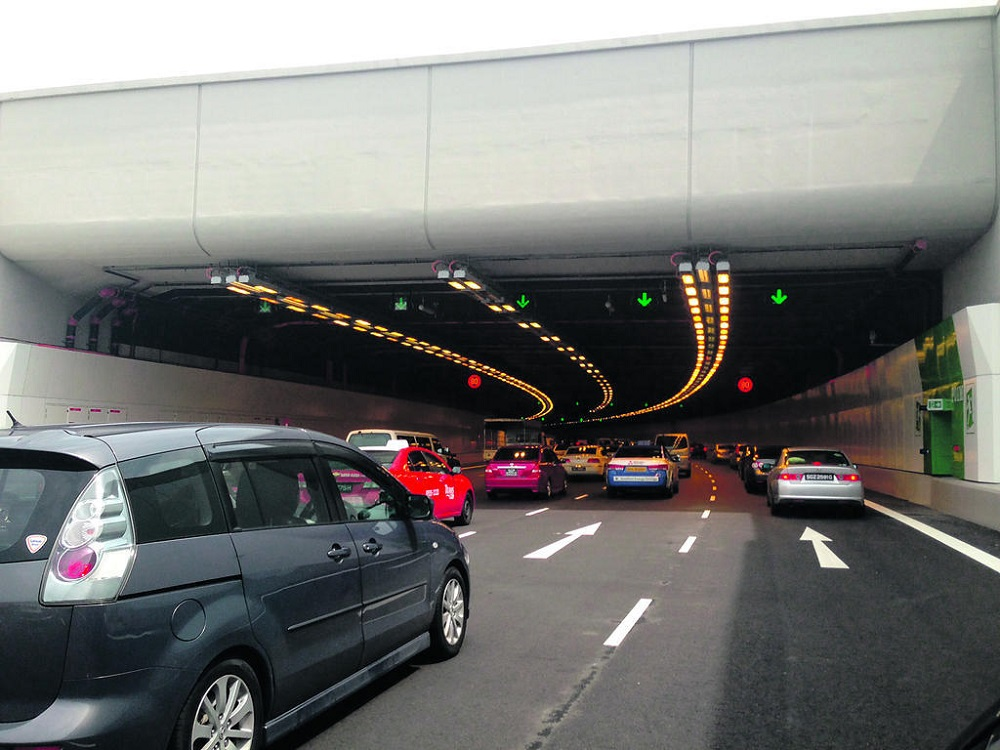 Tan Loong Tze swerved into the path of a private bus repeatedly along the Marina Coastal Expressway (pictured) and hit the bus driver's window so hard that it cracked. — TODAY file pic