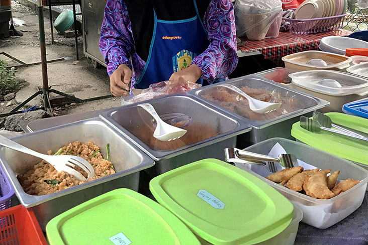 The best stalls have a wide variety of 'lauk-pauk' to choose from