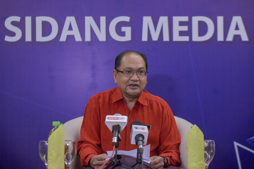 Ministry of Domestic Trade And Consumer Affairs chief secretary Datuk Seri Hasnol Zam Zam Ahmad addresses the media during a press conference in Putrajaya August 13, 2020. — Picture by Shafwan Zaidon