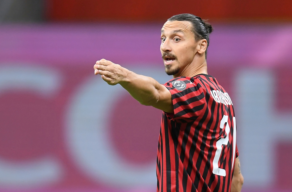 AC Milan's Zlatan Ibrahimovic, who turns 39 on October 3, is self-isolating at home following the test carried out ahead of the team's Europa League third qualifying round tie against Norwegian club Bodo-Glimt in the San Siro later today. — Reuters pic