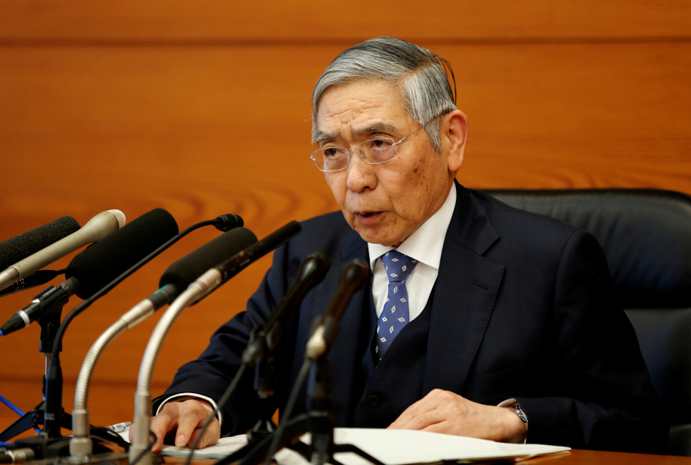 Bank of Japan Governor Haruhiko Kuroda speaks at a news conference in Tokyo, Japan, January 21, 2020. — Reuters pic