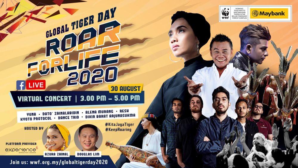 世界自然基金会也是非政府野生动物保护组织,他们一直在提高人们对马来亚虎的认知,并希望通过此次线上演唱会来敦促公众承诺拯救马来亚虎。-图取自WWF-Malaysia脸书专业-