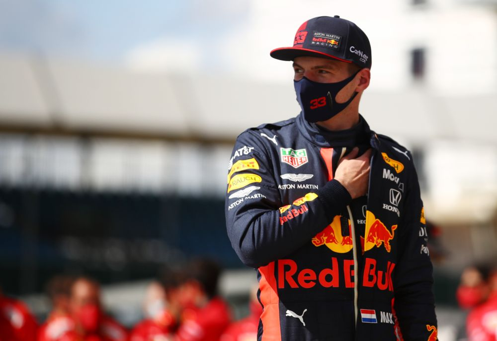 Red Bull's Max Verstappen after finishing in second place in the British Grand Prix at the Silverstone Circuit August 2, 2020. — Reuters pic