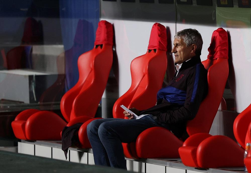 Barcelona coach Quique Setien seen during the match against Bayern Munich August 15, 2020. ― Reuters pic