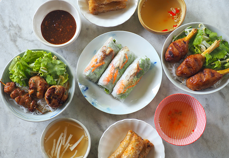 You can dine on light, tasty Vietnamese food in the comfort of your home by ordering from Jane's Nem Hanoi Authentic Spring Roll — Pictures by Lee Khang Yi